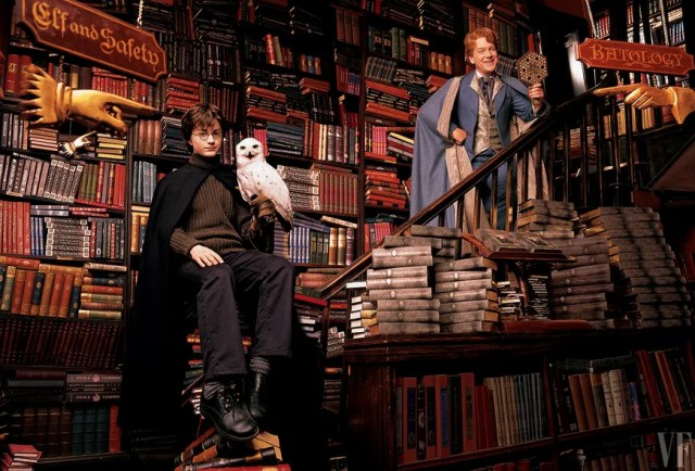 __About a Book__ Harry, his owl, Hedwig, and foppish professor Gilderoy Lockhart pay a visit to London's