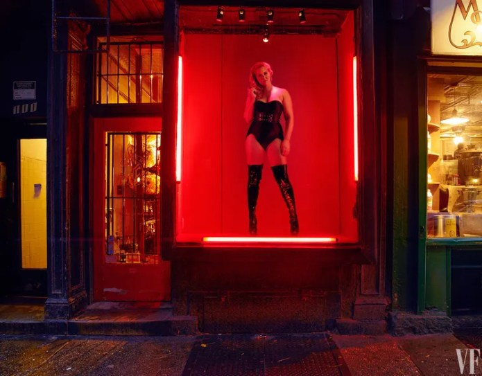Amy Schumer, at the Leather Man, in Greenwich Village.