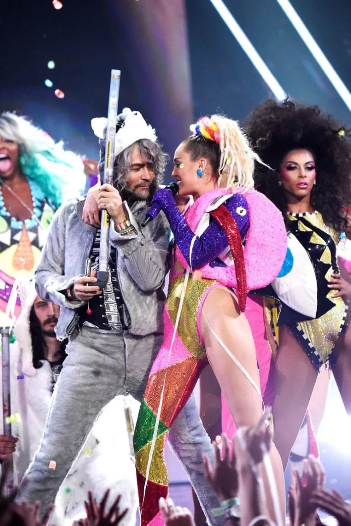 <strong>Miley Cyrus and Wayne Coyne</strong>
