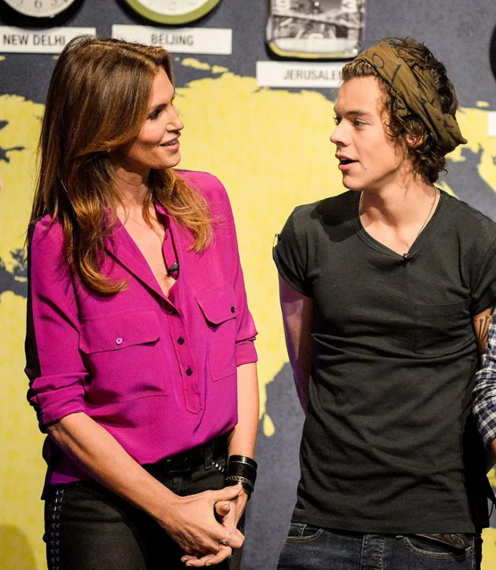Cindy Crawford, Rande Gerber, and Harry Styles