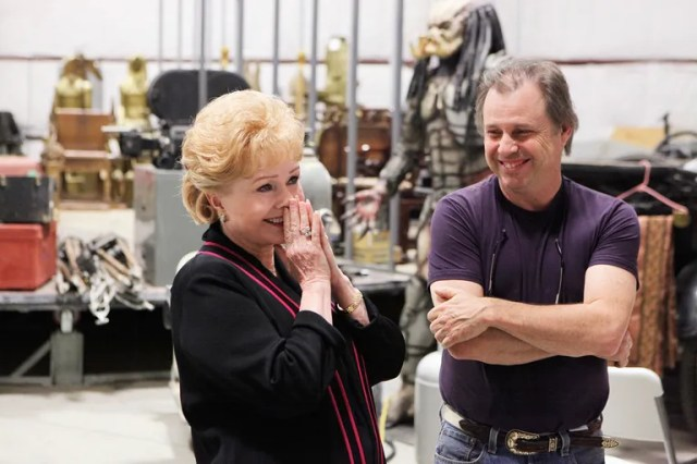 Reynolds and her son, Todd, among the actresss vast collection of Hollywood memorabilia.
