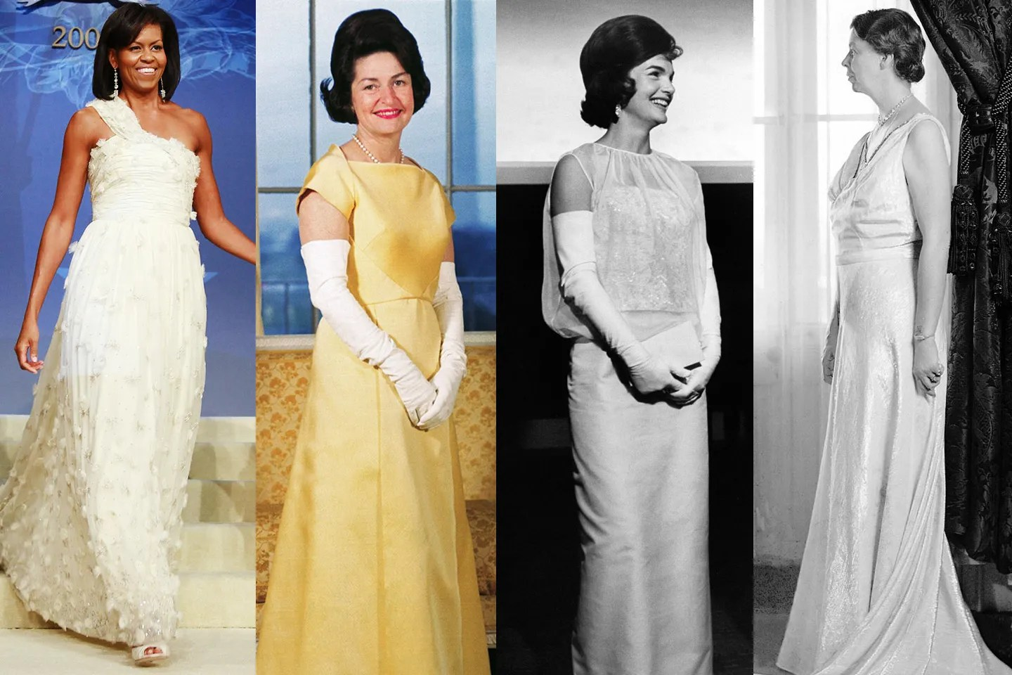 First Lady Inaugural Ball Gowns Through The Years