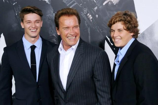 Patrick, Arnold, and Christopher Schwarzenegger
