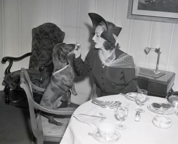 Joan Crawford and Pupperchen