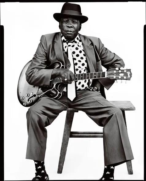 Blues singer John Lee Hooker, Vallejo, California, 1990.