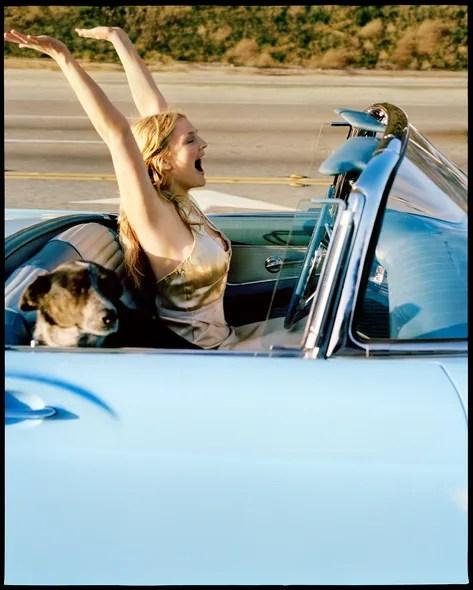 Actress Drew Barrymore, Los Angeles, 2003.