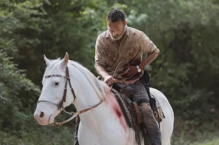 Andrew Lincoln as Rick Grimes - The Walking Dead _ Season 9, Episode 5 - Photo Credit: Jackson Lee Davis/AMC