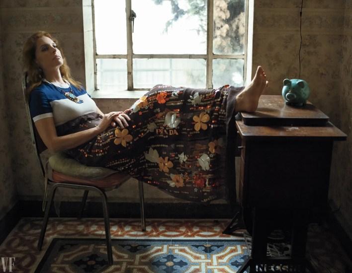 Marina De Tavira sitting at a desk in Mexico.