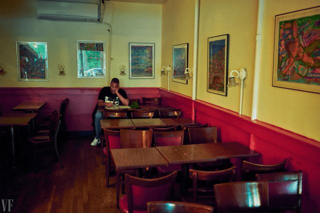 TaNehisi Coates at the Hungarian Pastry Shop near Columbia University