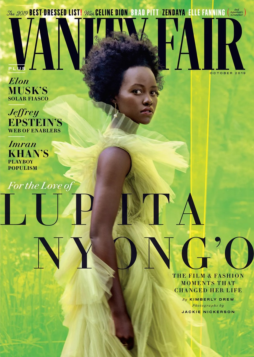 Lupita Nyong'o photographed for Vanity Fairs October 2019 issue.