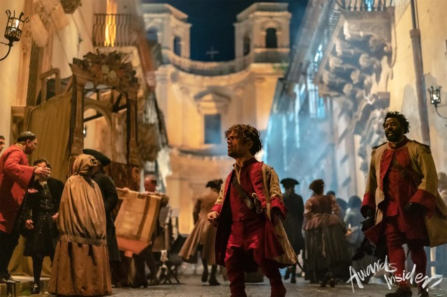 Peter Dinklage in Cyrano. In film one could get right into his eyes and see the tiny changes and tiny heartbreaks and...