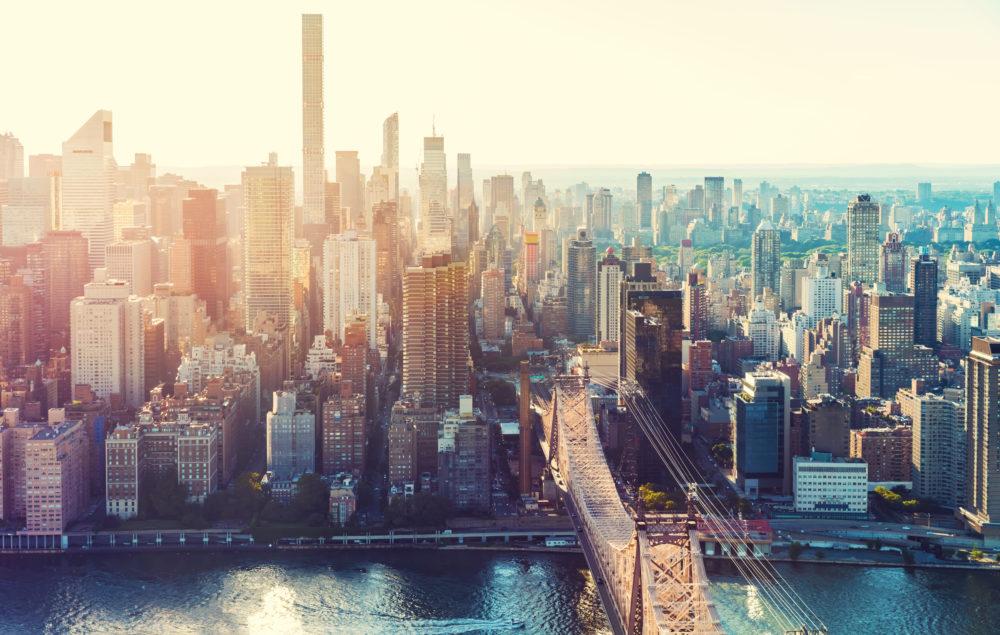 stadssiluetten i New York, storstäder i USA