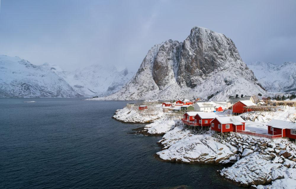 resa till Lofoten i Norge, resor till Lofoten i Norge, se norrsken i Lofoten, Lofotenöarna, byn Reine