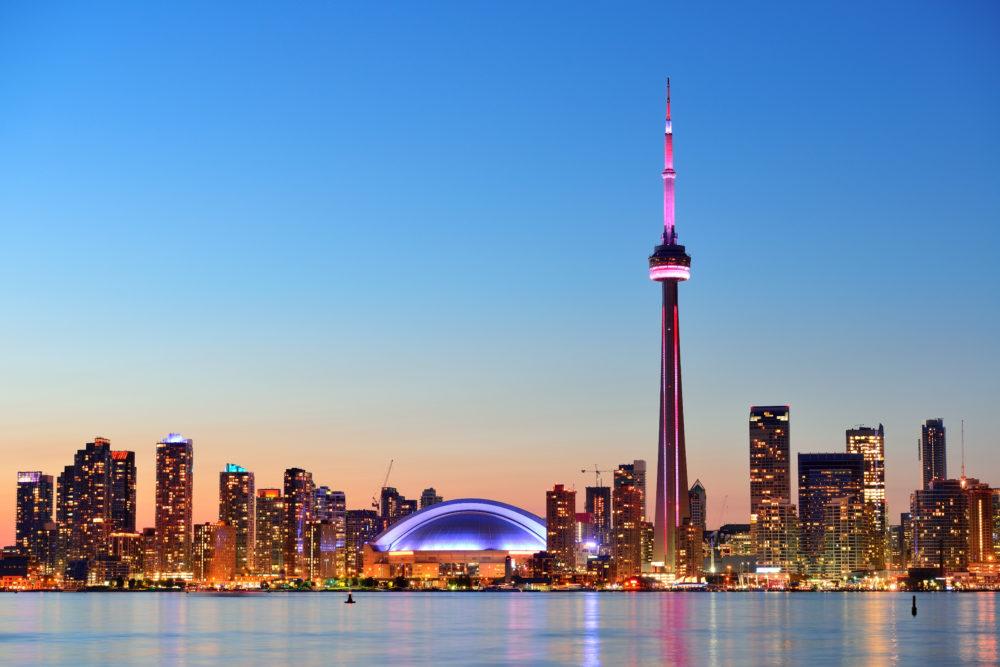 stadssiluetten i Toronto, storstäder i Kanada