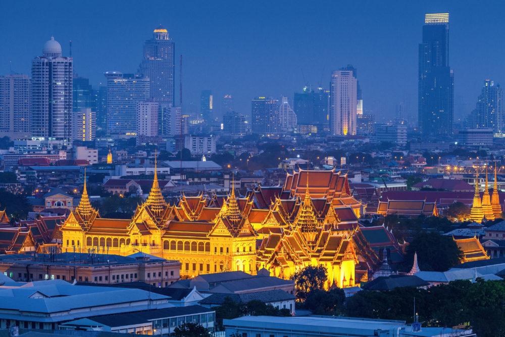 stadssiluetten i Bangkok, storstäder i Thailand