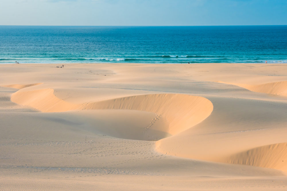 tränder på Boavista, strand på Boavista, stränder i Kap Verde, strand i Kap Verde