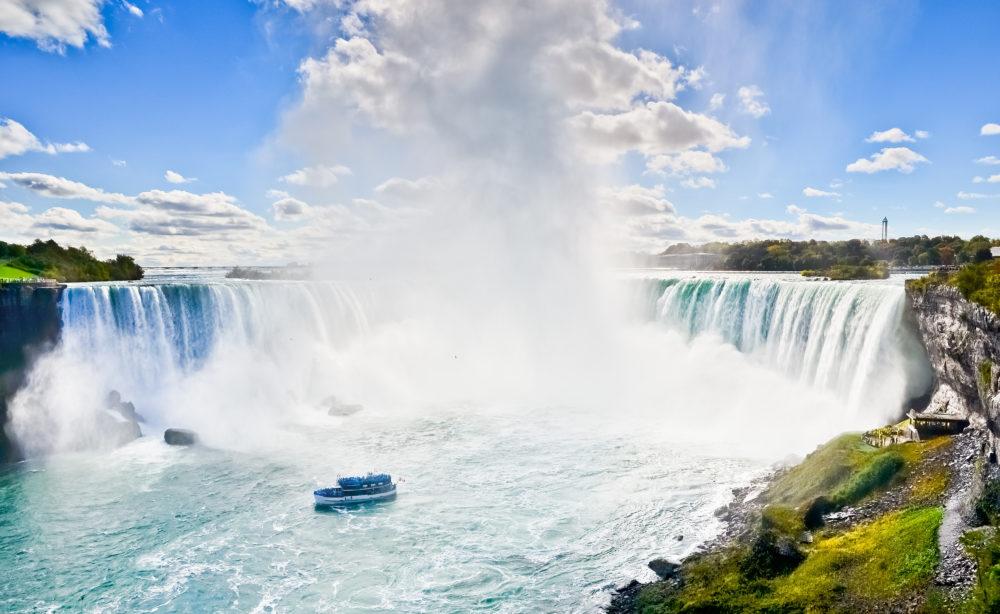 Horshoe Fall, Niagara Falls, sevärdheter i Ontario, sevärdheter i Kanada, Niagarafallen i Kanada, Niagarafallen i USA, åka båt Niagarafallen