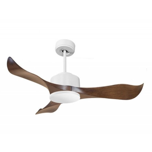 Modulo by KlassFan   DC Ceiling Fan without Light White and Wood     Modulo by KlassFan   DC Ceiling Fan without Light White and Wood Ideal for  20 to