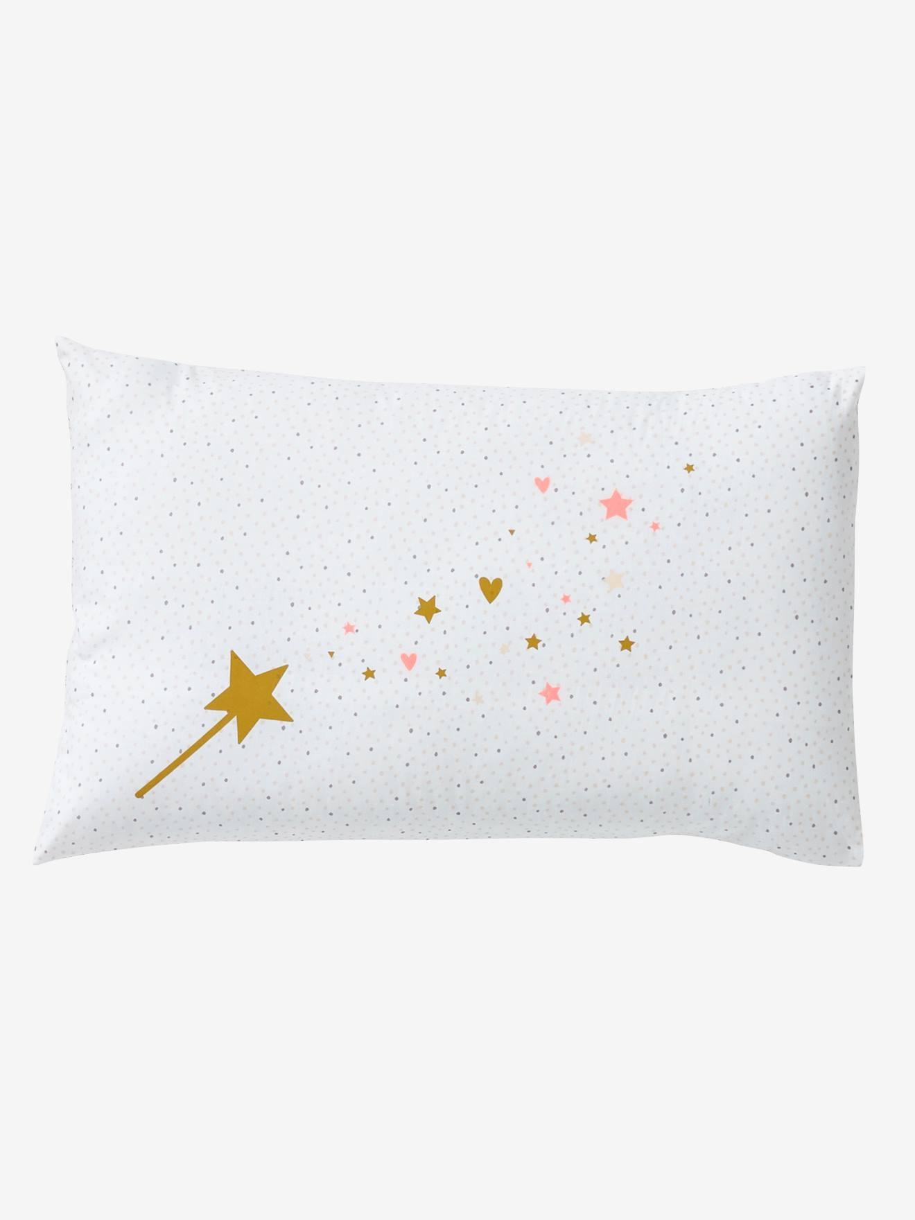 baby pillowcase magic theme light pink