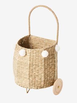 Panier à roulettes herbier blanc 3 - vertbaudet enfant