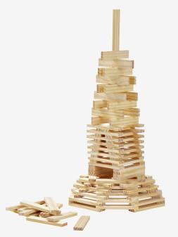 200 planchettes de construction en bois beige 1 - vertbaudet enfant