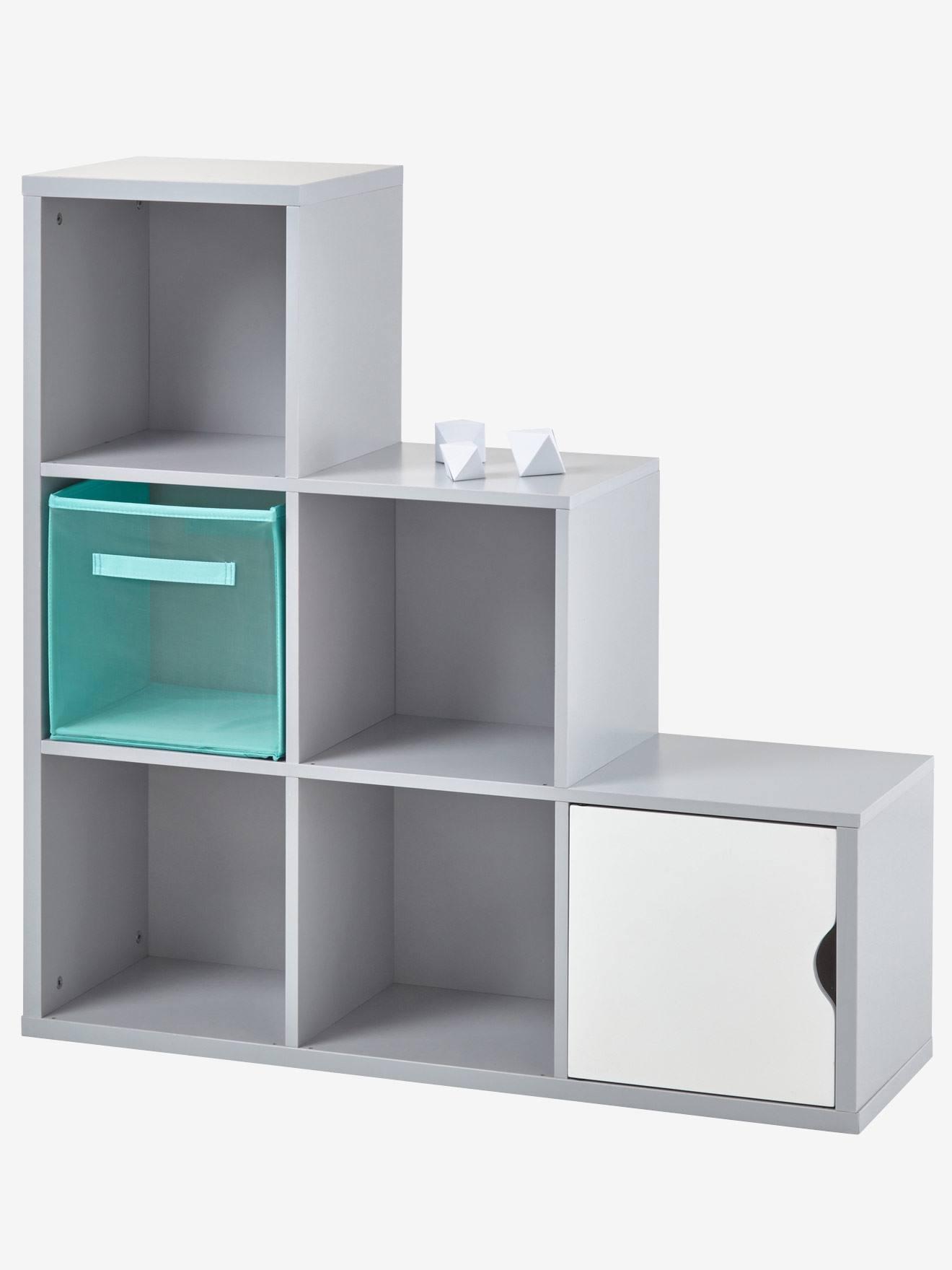 meuble de rangement 6 cases gris