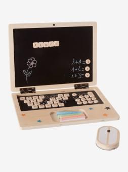 Ordinateur portable en bois noir 6 - vertbaudet enfant
