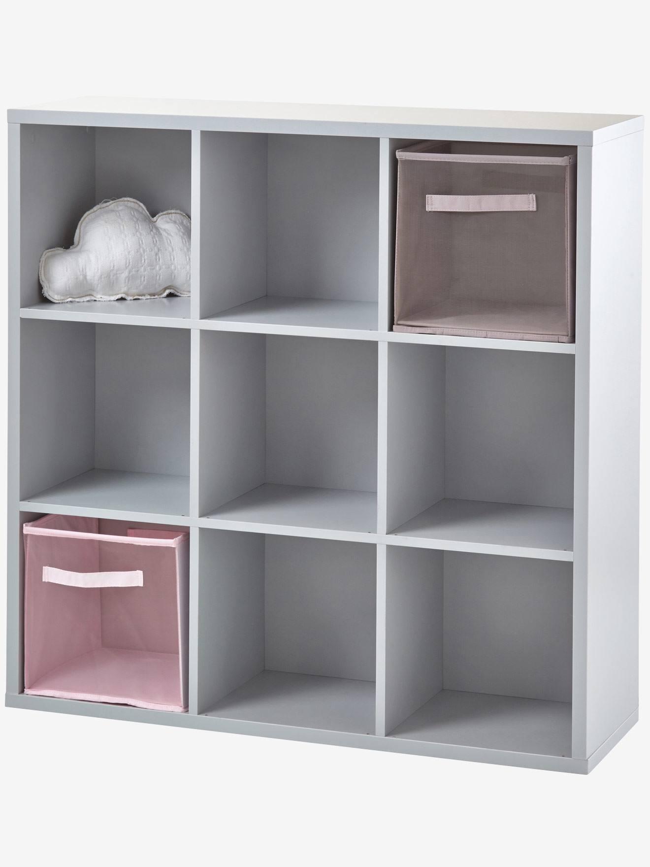 meuble de rangement 9 cases gris