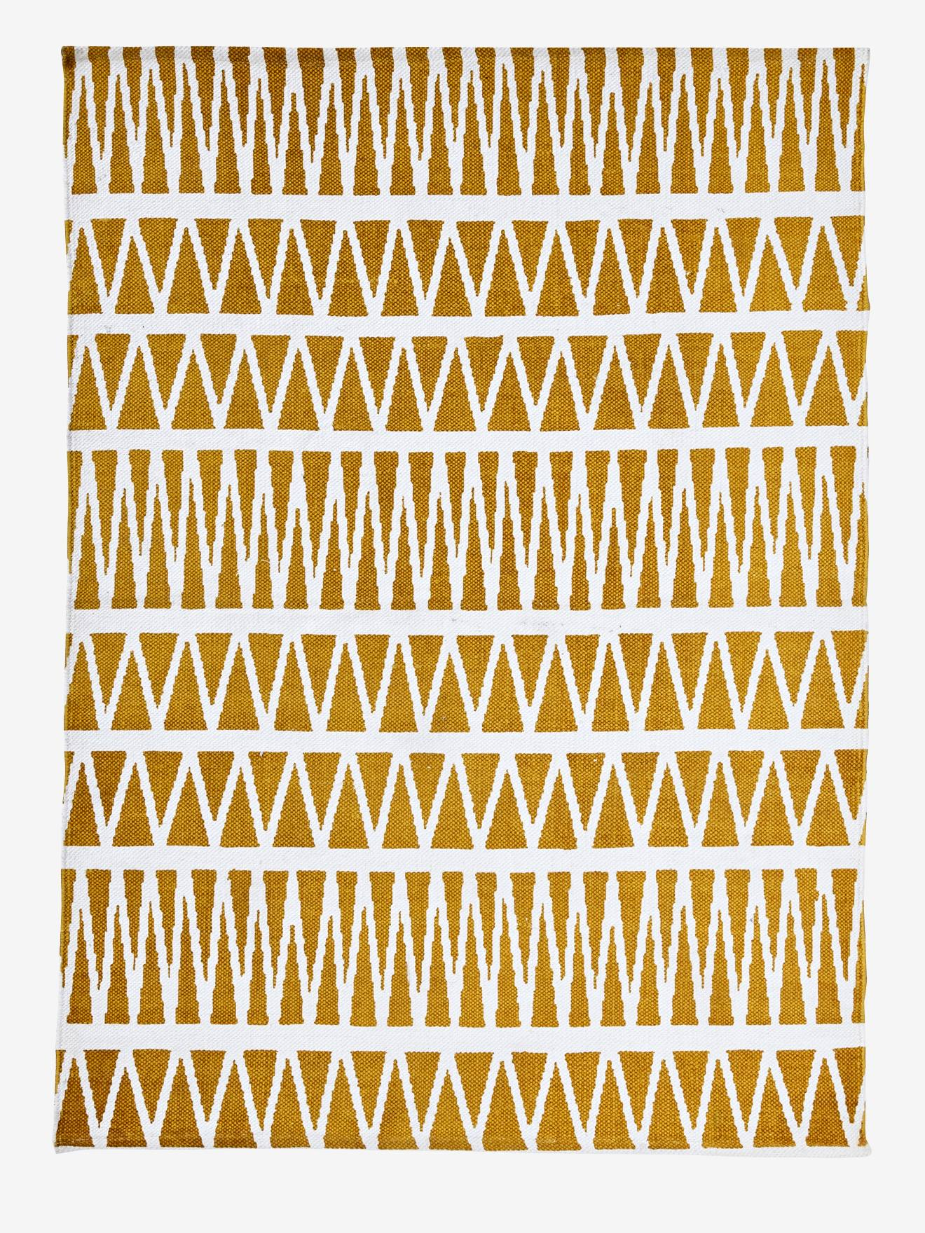 tapis savana jaune imprime
