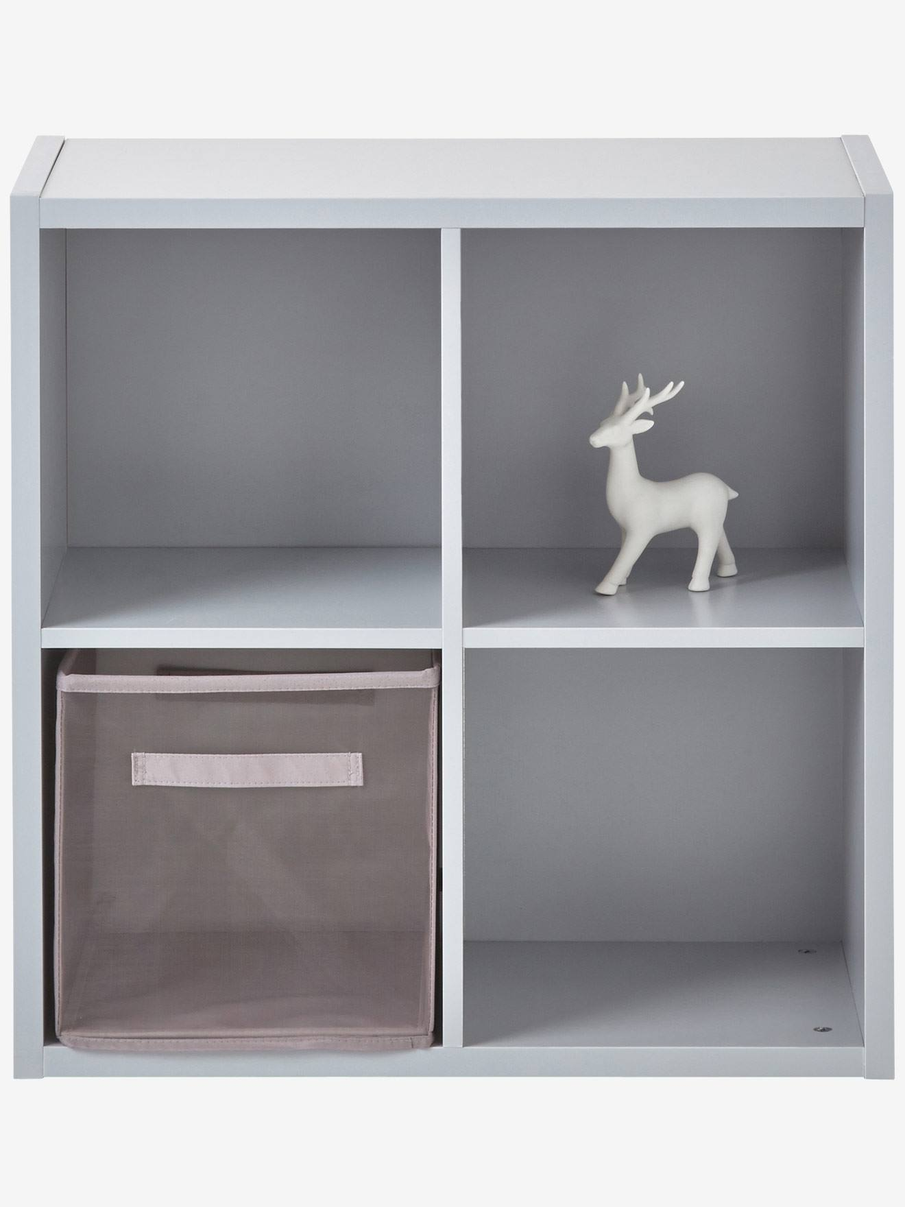 meuble de rangement 4 cases blanc