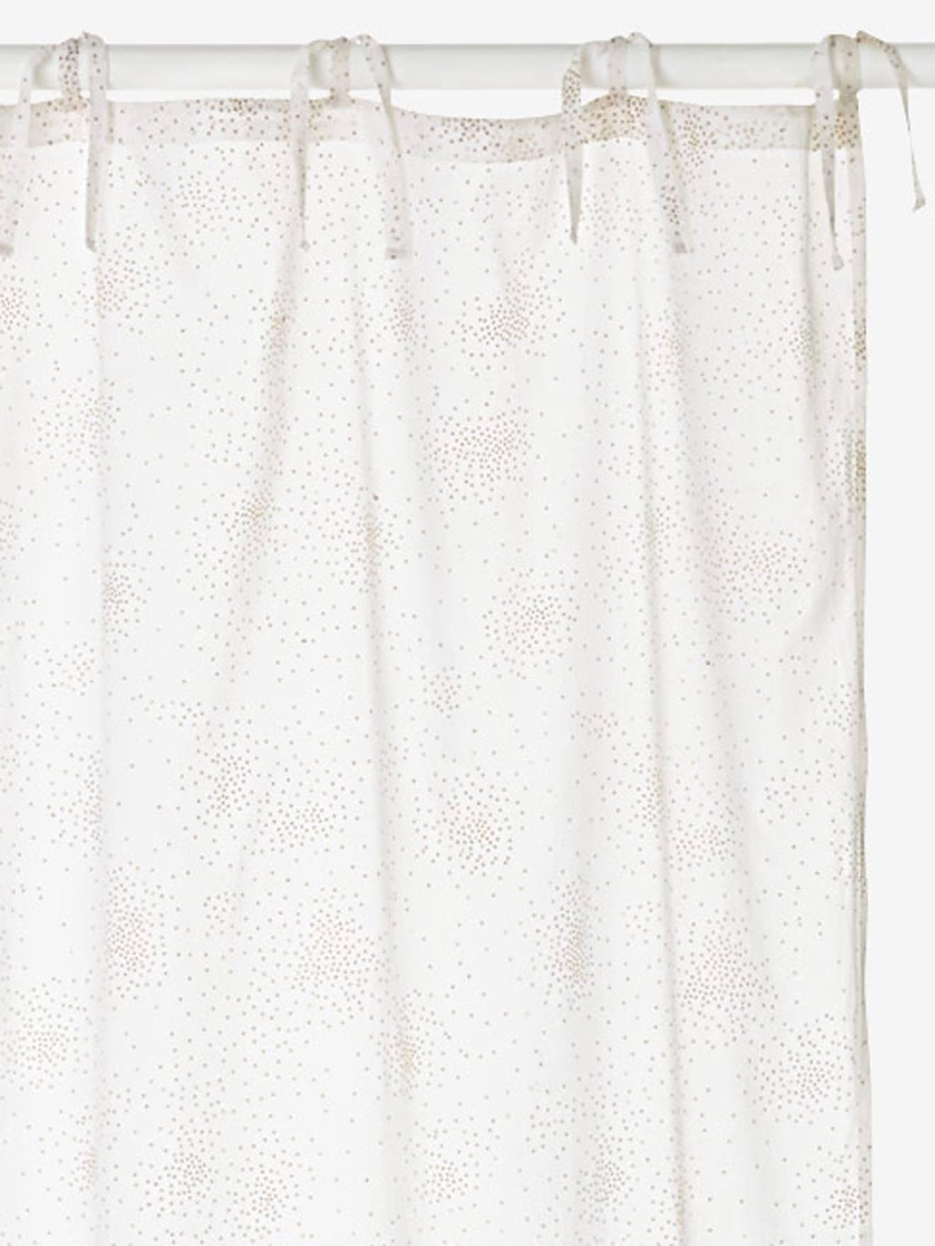 rideau voilage paillete feerie blanc paillettes