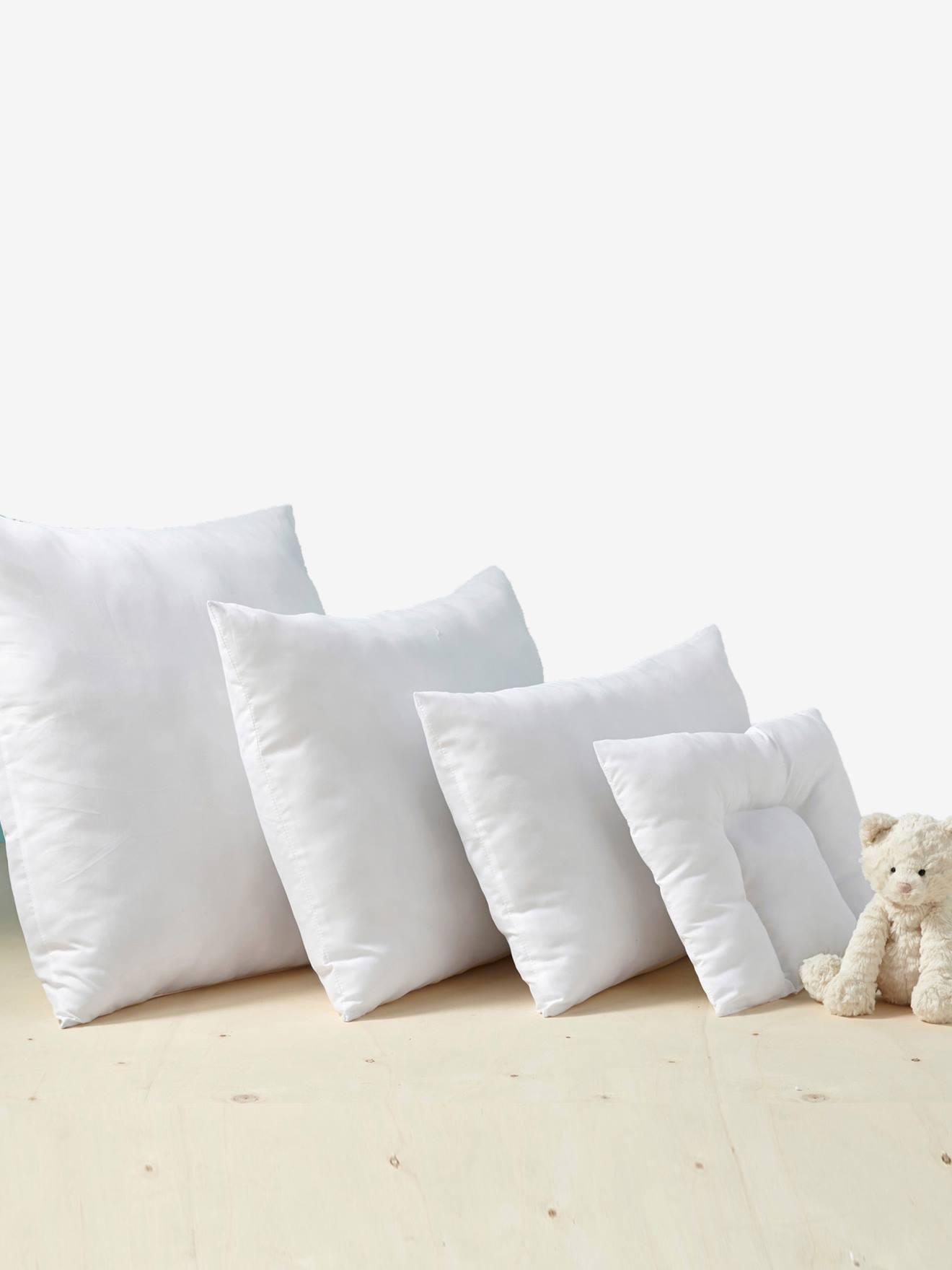 oreiller microfibre entretien facile a bouillir blanc 1 vertbaudet enfant