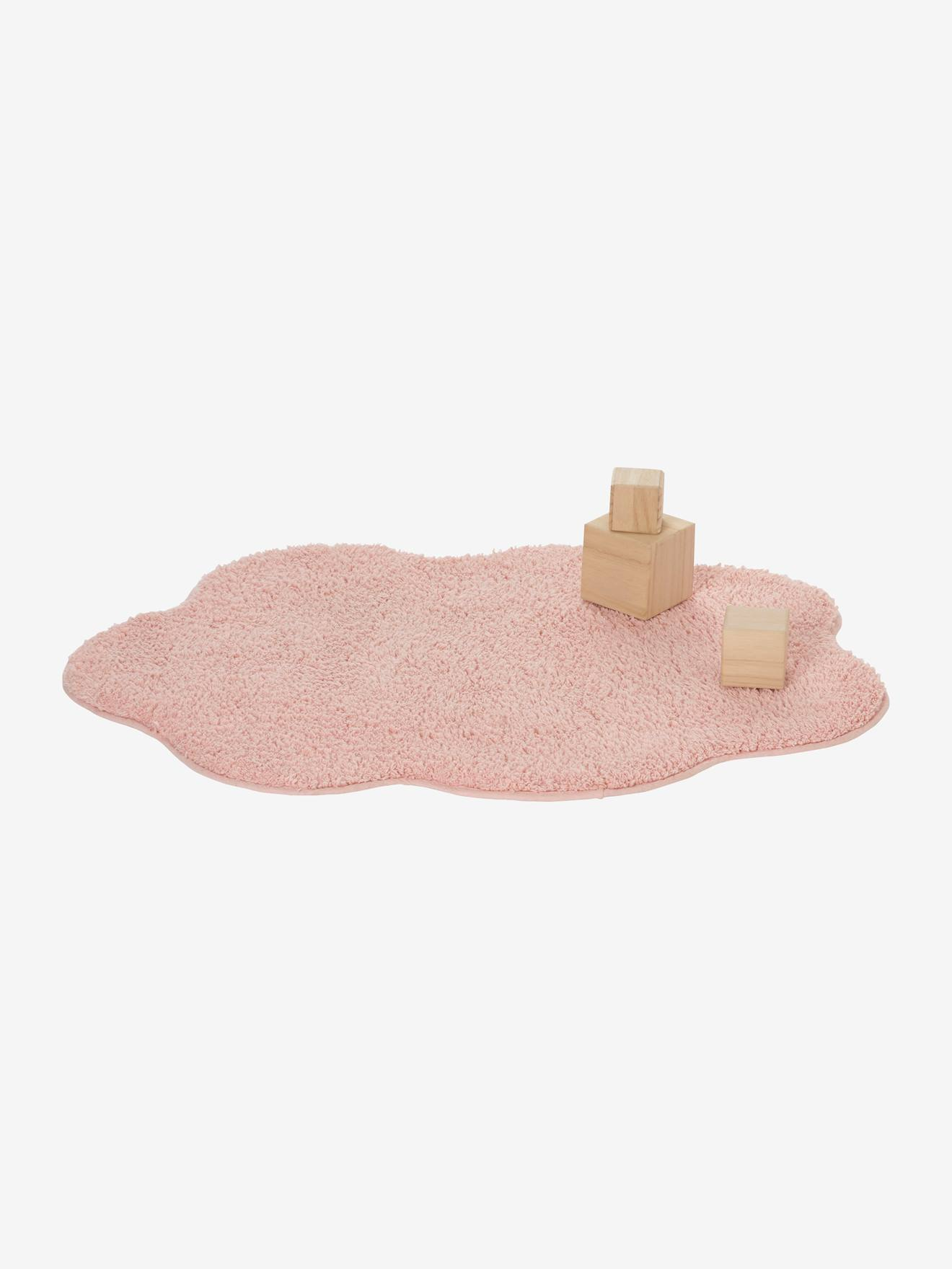 tapis nuage rose pale