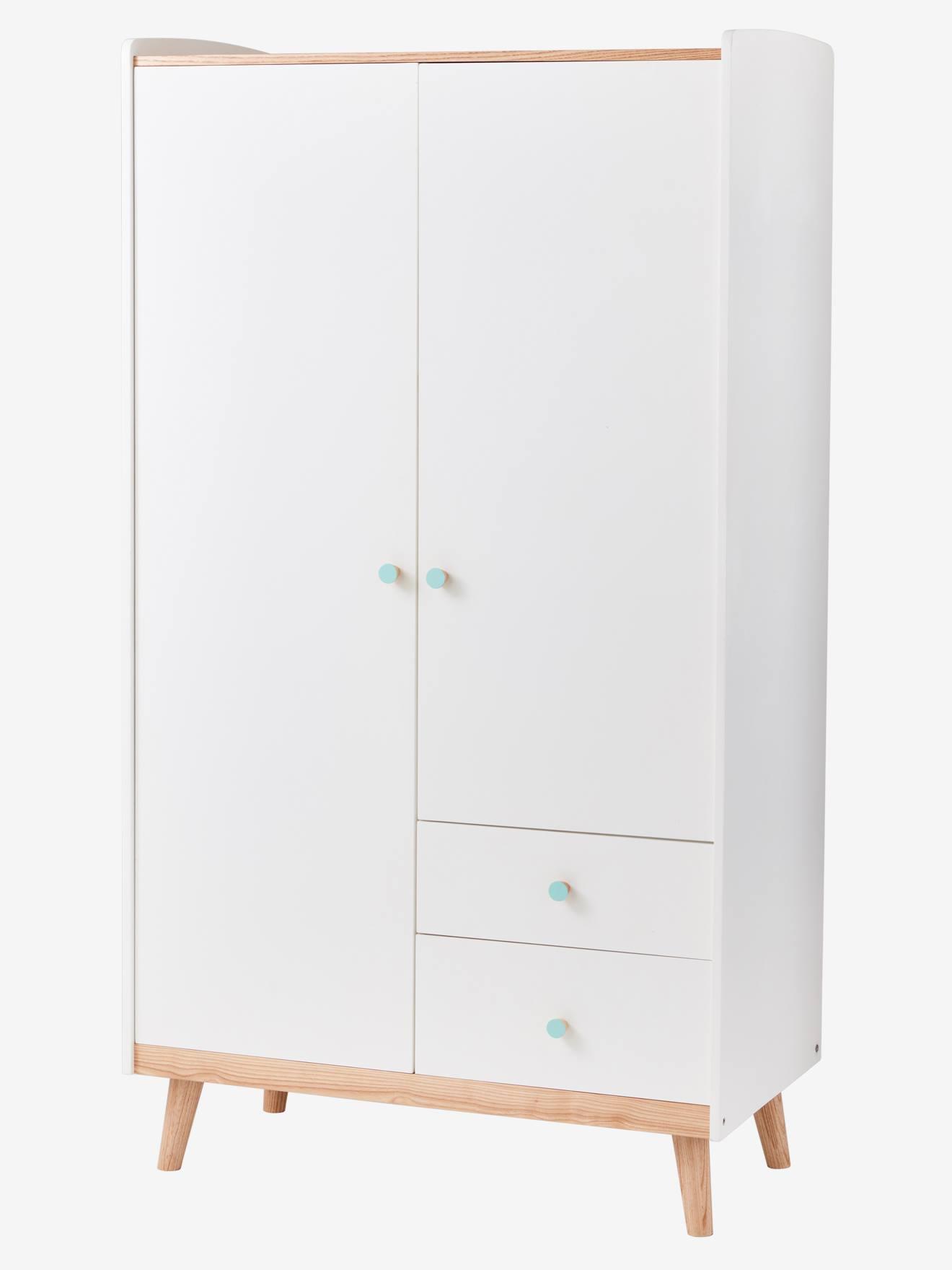 armoire 2 portes ligne confetti blanc bois