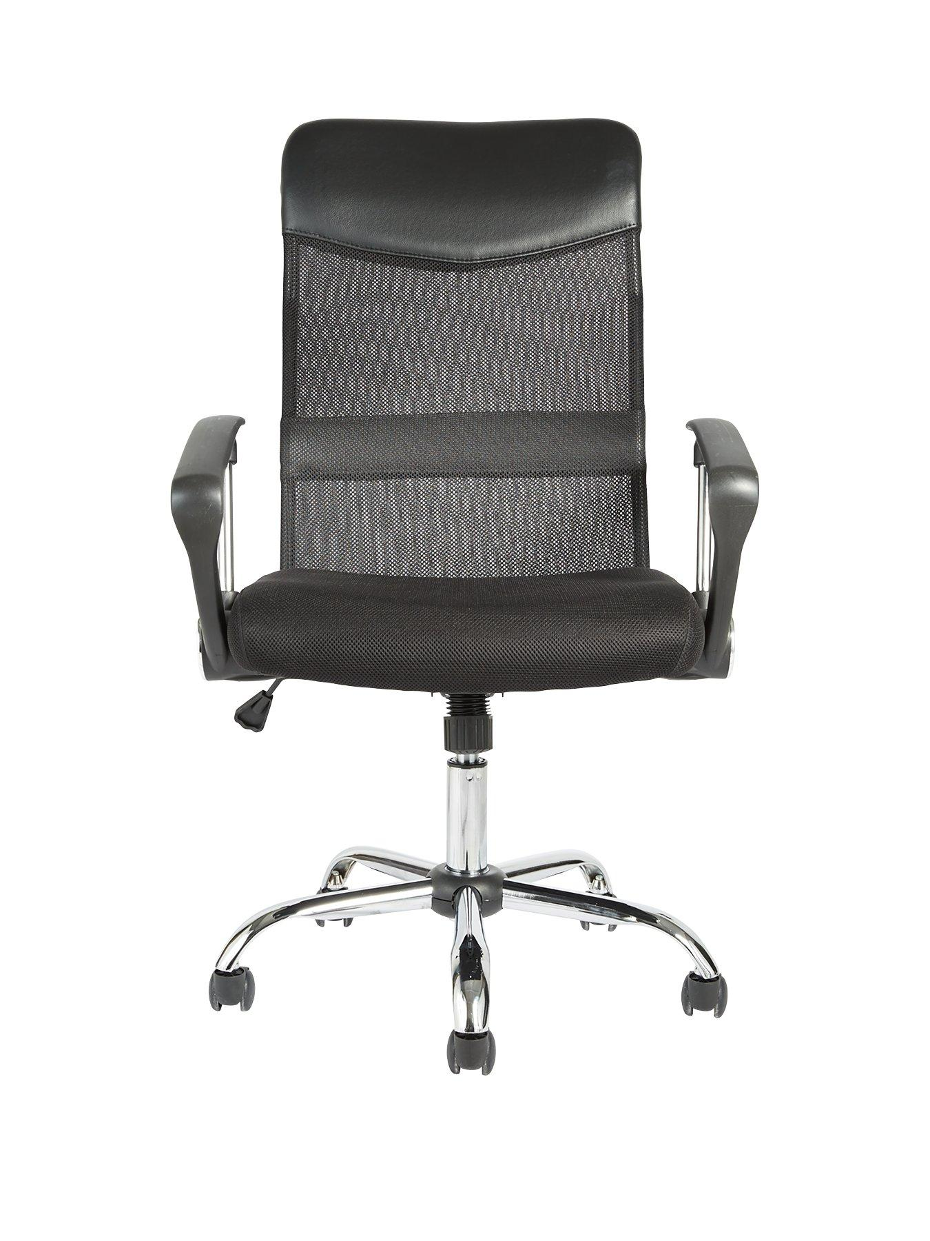 sydney mesh and faux leather office chair very co uk bedroomsweet eames office chair replicas style