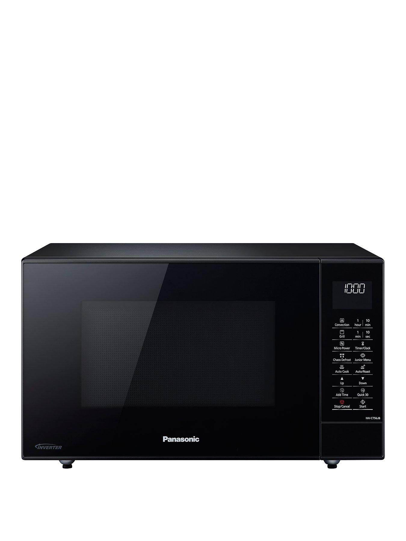 27 litre slimline microwave oven grill with inverter technology nn ct56jbbpq