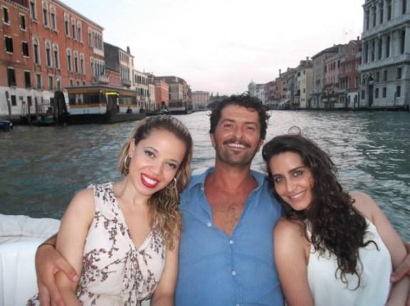 Passeio de barco com o Jacopo (surfer de Veneza)