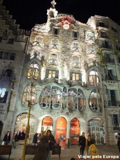 Casa Batló, uma das obras de Gaudí, Barcelona.