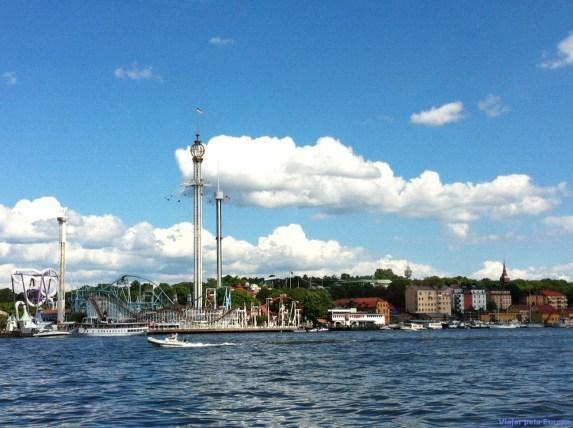 Vista do ferry a caminho de Djurgården.