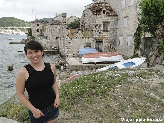 As ruínas são o que mais me atraíram na ilha