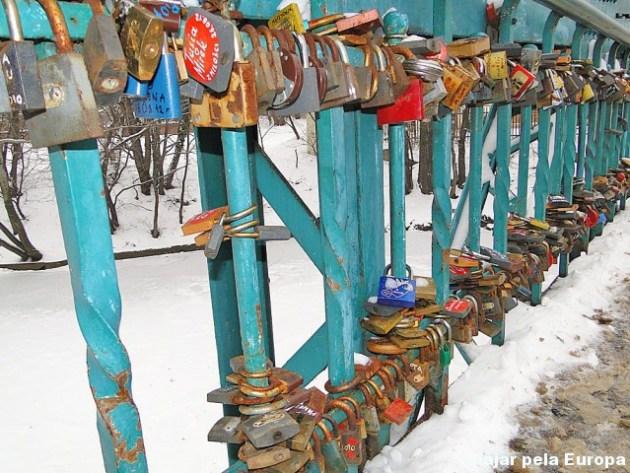 Os cadeados que colorem a ponte :)