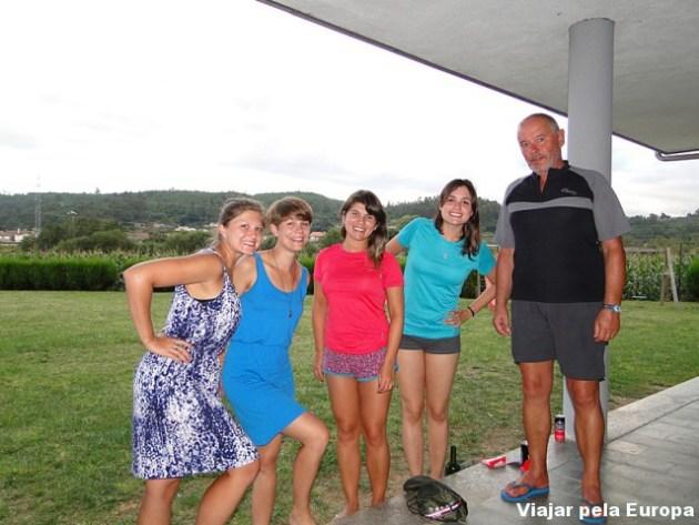 As peregrinas da Alemanha que nos contaram sobre suas experiências de caminhada e o peregrino português que falou sobre os diversos caminhos que já percorreu :) Lindo!