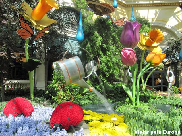 O jardim fofo do Bellagio :D