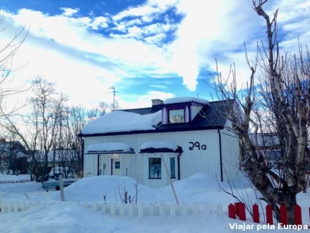 As casinhas charmosas de Kiruna! Parecem de desenho animado :D
