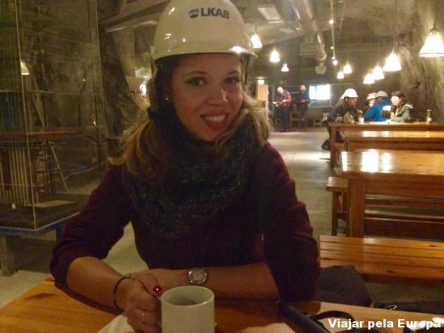 Tomando um cafezinho a 540m no subsolo! LKAB em Kiruna.