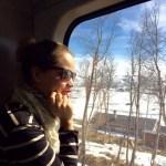 Viagem de trem na Noruega