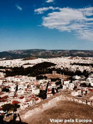 Vista da Acrópole para Atenas!
