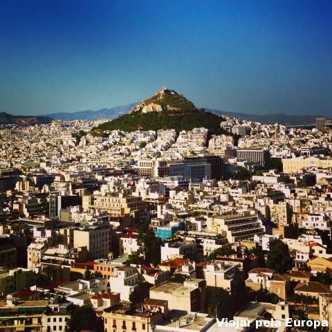 Incrível essa vista da Acrópole para Atenas.