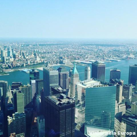A vista do One World Observatory para Nova York é incrível!