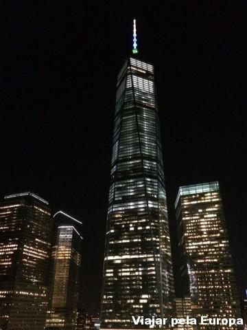 Essa era a vista do nosso quarto no One World Center Hotel de Nova York.